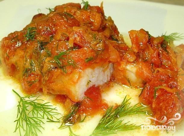 Рецепт Треска с болгарским перцем и помидорами