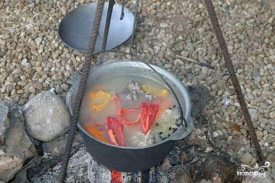 Вкусный суп шурпа на костре в казане рецепт с фото