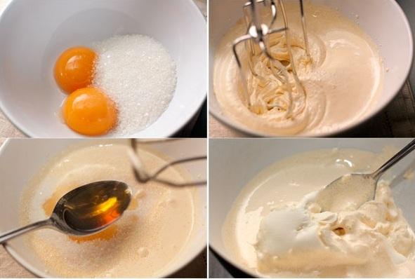 Рецепт Черничное суфле на маскарпоне