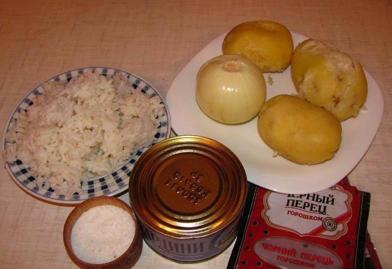 котлеты из консервы сардина рецепт с пошаговым фото