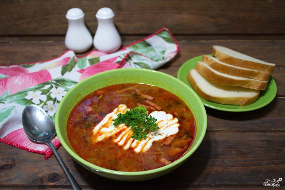 суп солянка мясная сборная рецепт с почками