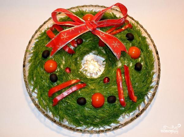 Рождественские салаты с фото