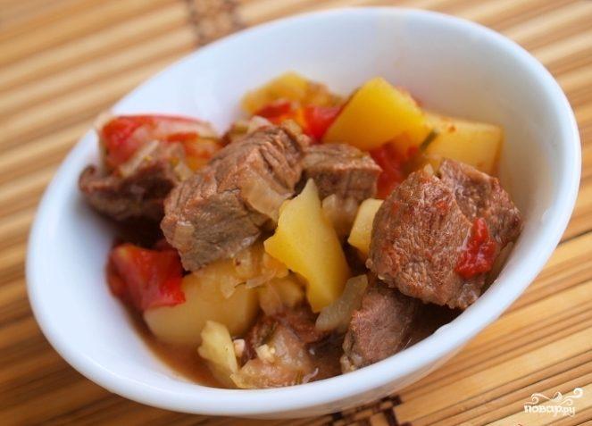 Рецепт Баранина в пиве с овощами