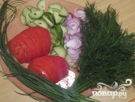 Салат со скумбрией - фото шаг 1