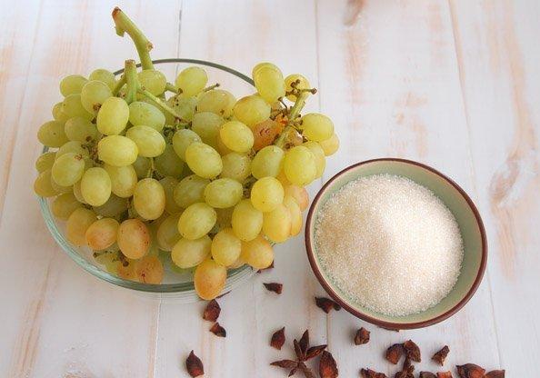 Рецепт Виноград в сиропе