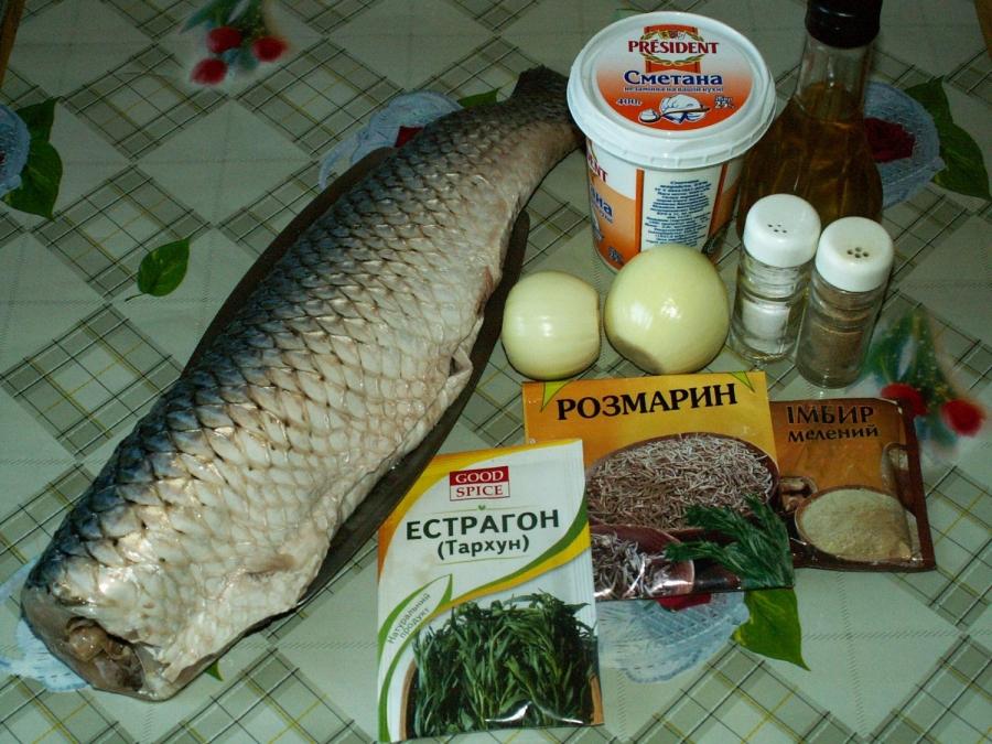 Рецепт Запеченная рыба в сметане
