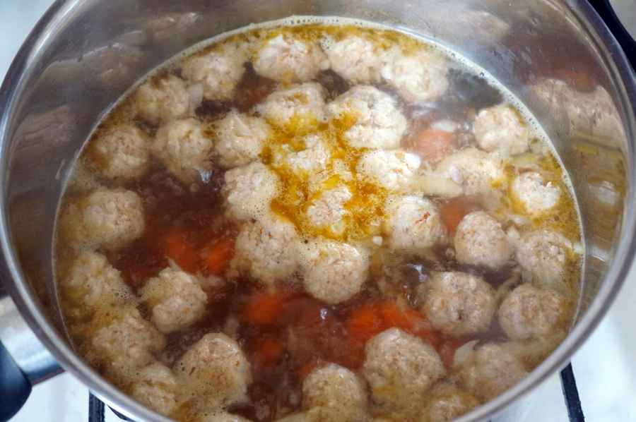 Суп с куриным фаршем - фото шаг 8