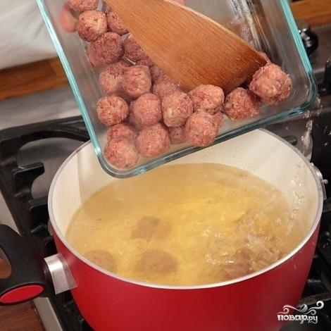 Армянский суп с фрикадельками - фото шаг 4