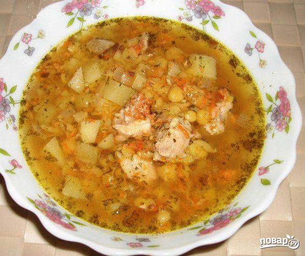 Суп со свининой в мультиварке Поларис