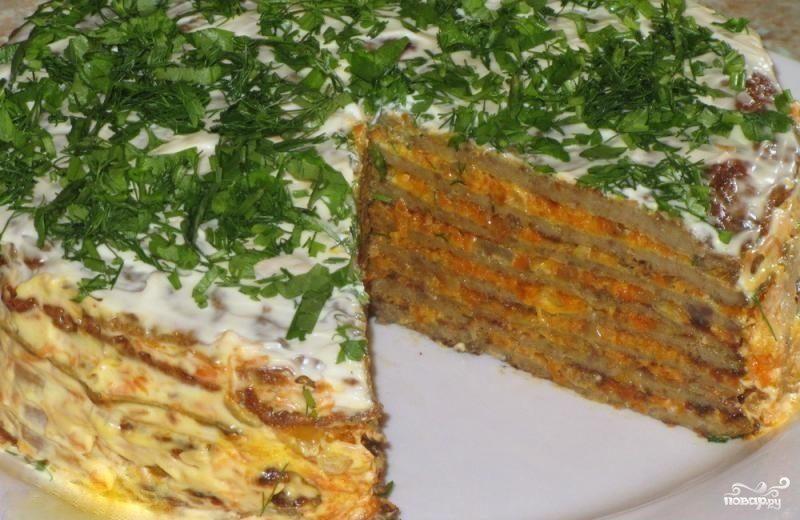 печеночный торт рецепт с фото пошагово с свиной печени рецепт