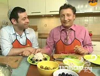 """Сырный салат """"Утро на Масличной горе"""" - фото шаг 1"""
