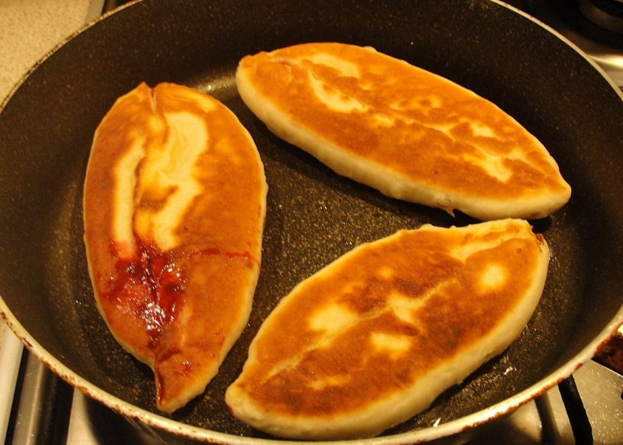 Жареные пирожки с вареньем рецепты с фото