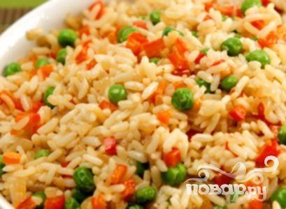 Рецепт Рис с горохом и сладким перцем