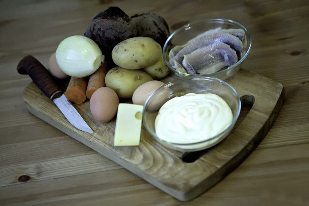 Рецепт Селедка под шубой с сыром
