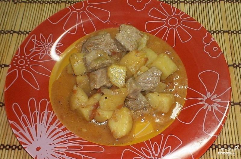 Картошка со свининой и помидорами - фото шаг 6