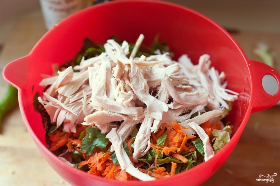 Овощной салат с курицей - фото шаг 4