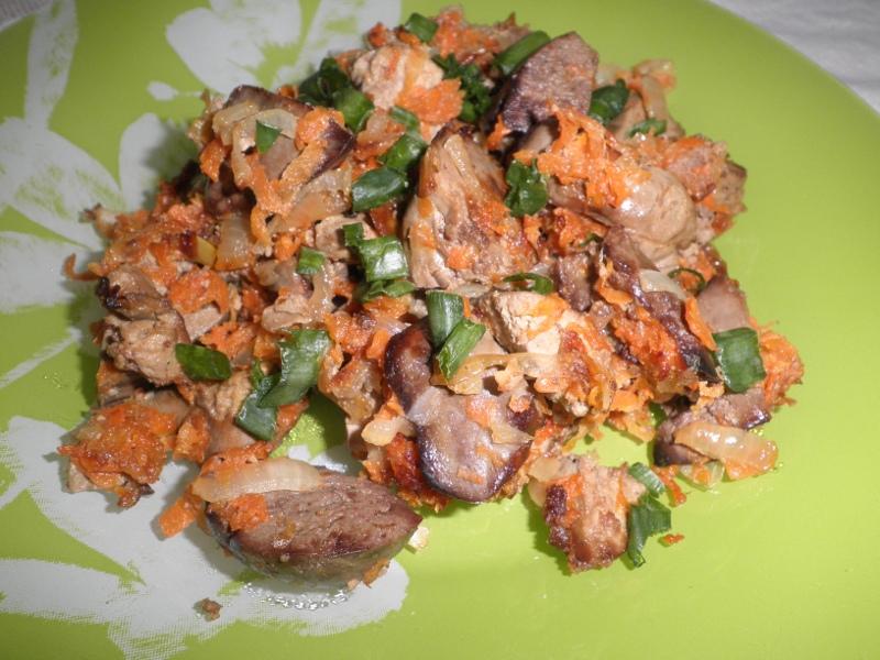 Печень жареная с луком и морковью рецепт пошагово