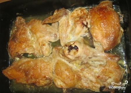 Курица в духовке с сыром и майонезом - фото шаг 4