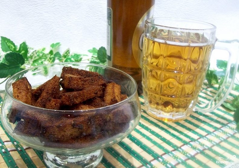 Гренки с чесноком к пиву