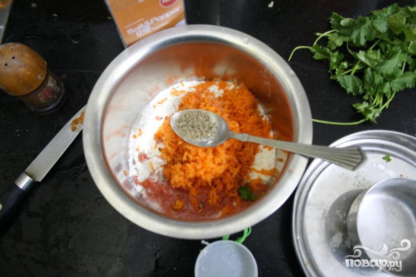 Морковные кексы с кориандром и кукурузой - фото шаг 5