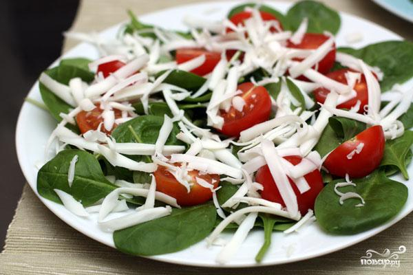 Салат со шпинатом и помидорами черри - фото шаг 5