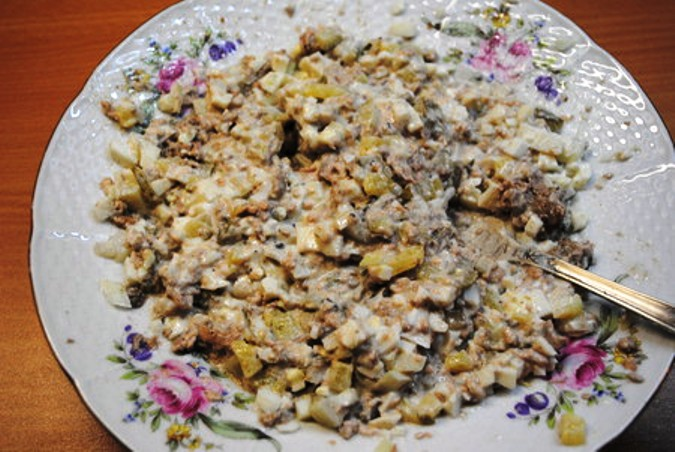 Салат в тарталетках - фото шаг 5