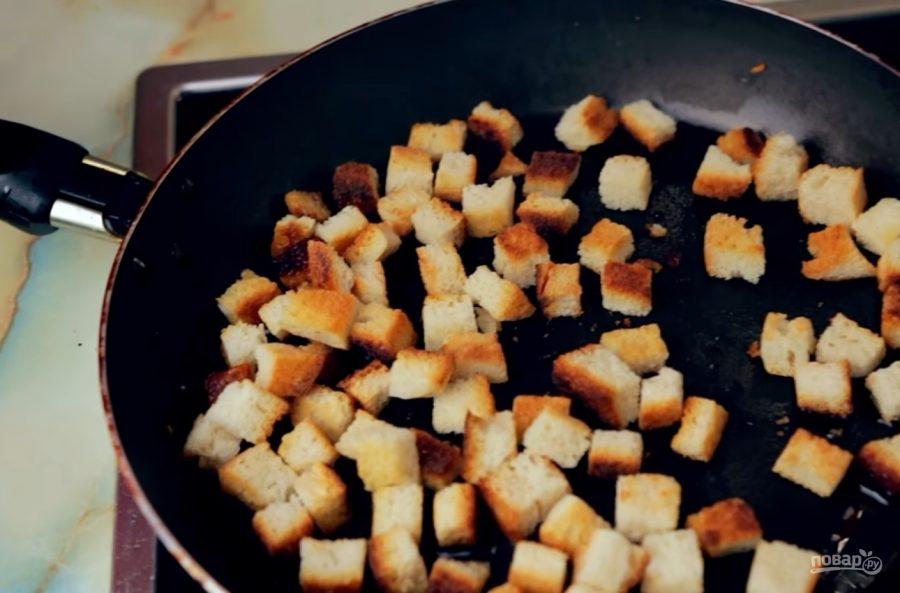 Как из хлеба сделать сухарики на сковороде 241