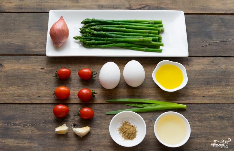 Теплый салат со спаржей - фото шаг 1