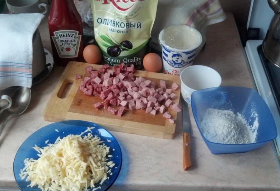 Рецепт Пицца быстро на сковороде