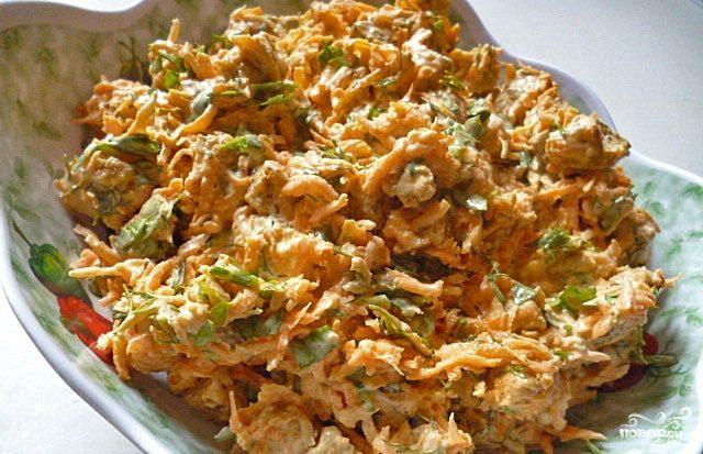 салат с сухариками рецепт классический пошаговый рецепт