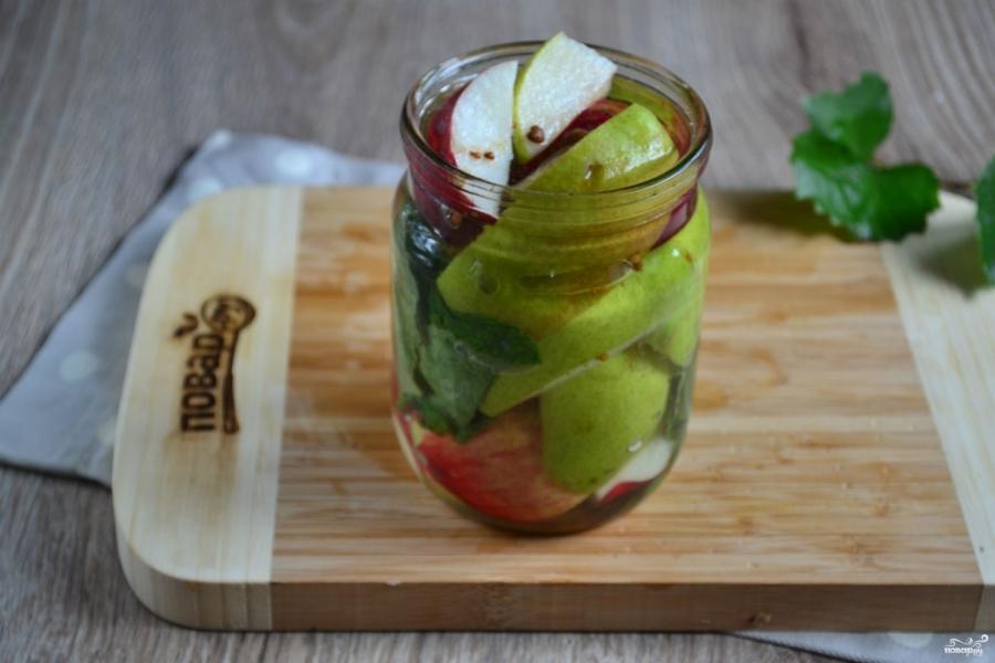 Яблоки и груши маринованные - фото шаг 4