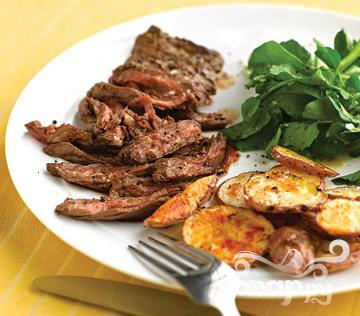 Рецепт Говяжий стейк с пикантным картофелем