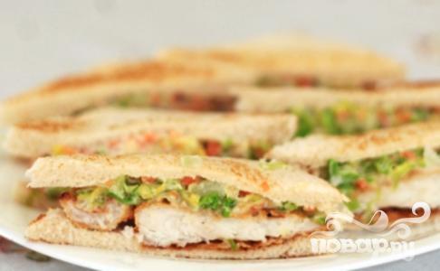 Рецепт Сэндвичи с рыбой и капустой