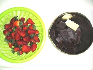 Рецепт Клубника в черном шоколаде