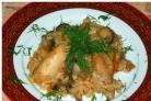 Плов с грибами и курицей