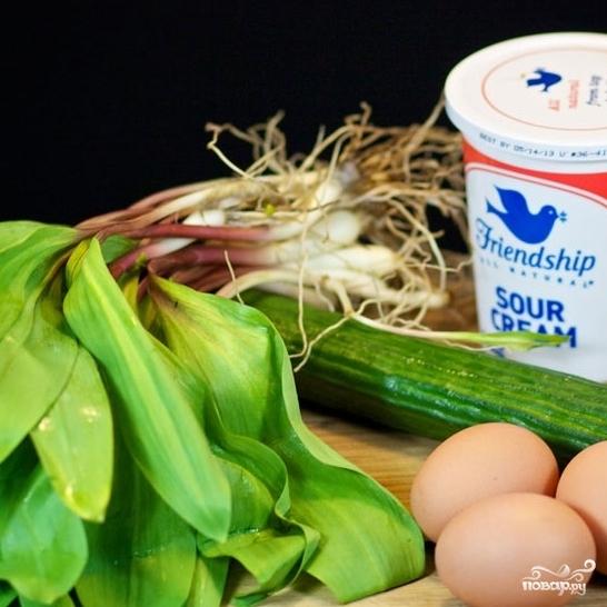 Рецепт Салат из черемши с яйцом