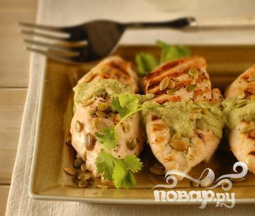Рецепт Курица на гриле с тыквенным соусом