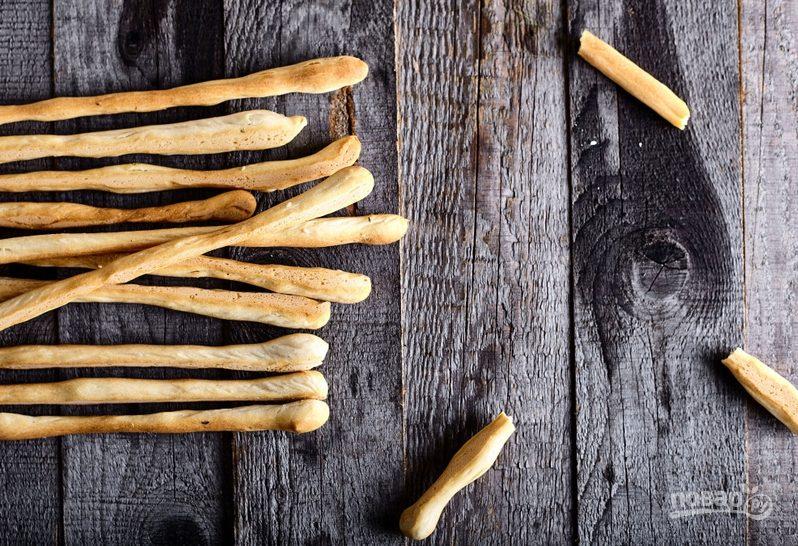 Итальянские хлебные палочки гриссини с орегано