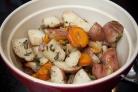 Картофель, запеченный с морковью