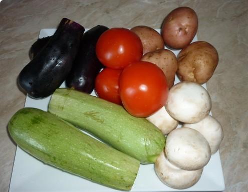 Рецепт Гарнир к мясу в духовке