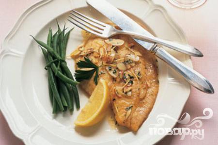 Рецепт Рыба с лимоном и миндалем