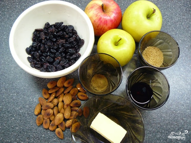 Яблочный штрудель из готового слоеного теста - фото шаг 1