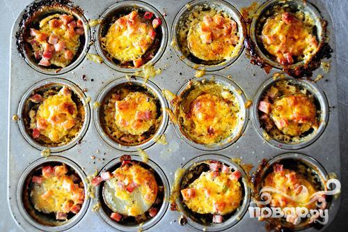 Картофель с сыром и зеленым луком - фото шаг 5