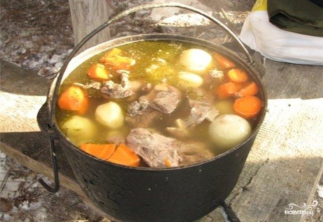Шулюм из свинины на костре рецепт пошагово