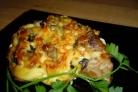 Мясо с сыром и грибами