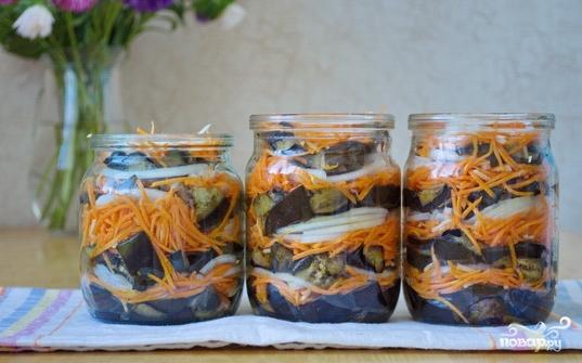 Баклажаны с морковкой и луком на зиму - фото шаг 4