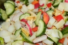 Салат без майонеза с курицей