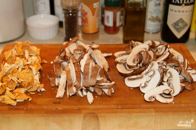 Паста сливочная с грибами - фото шаг 1