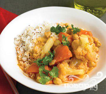 Рецепт Овощное карри с рисом