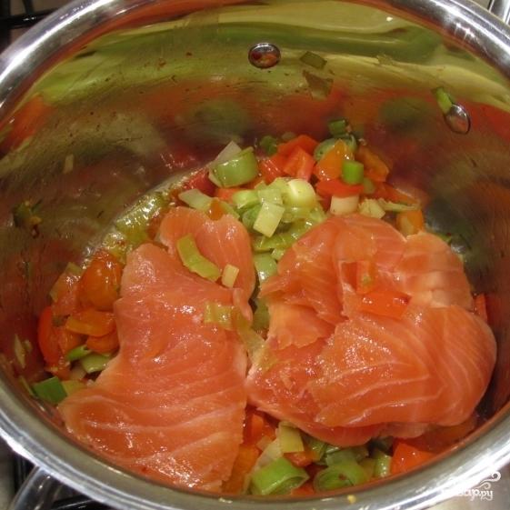 Паста с копченым лососем - фото шаг 3